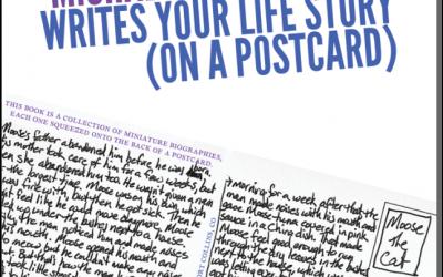 Michael Kimball Writes Your Life Story (On a Postcard)